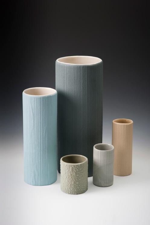 Tricia Dwyer-Slip cast vases