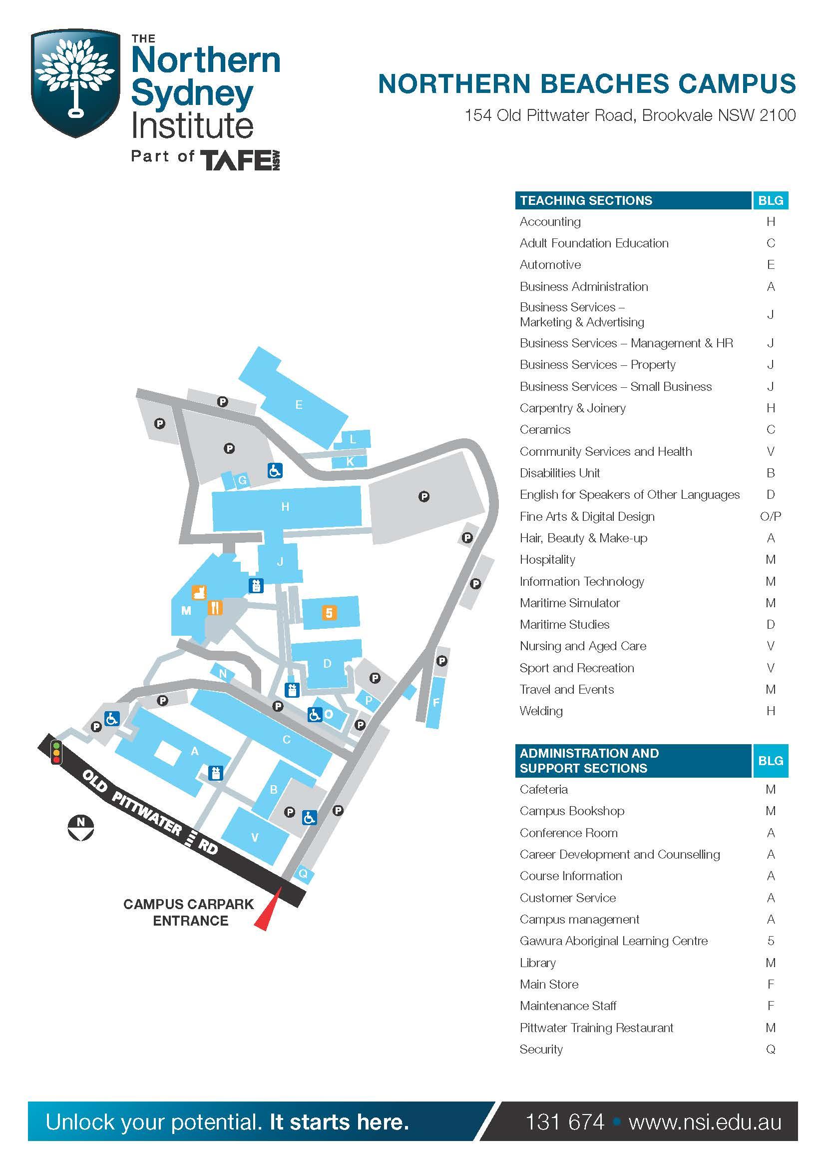 Map Northern Beaches Tafe _northern Beaches Campus Map_page_ _northern Beaches Campus Map_page_