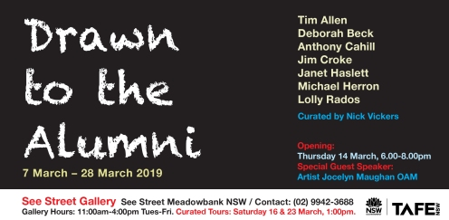 Drawn to the Alumni Exhibition Invitation