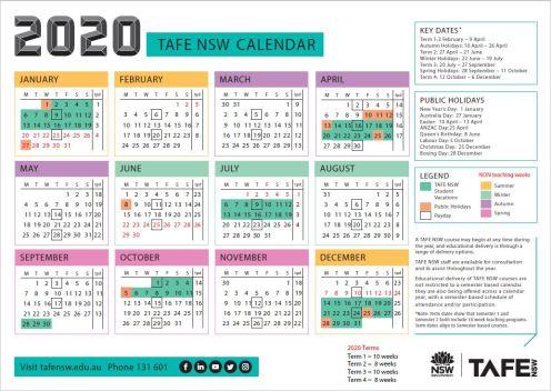 2020-tafe-nsw-calendar-includes-NONteach
